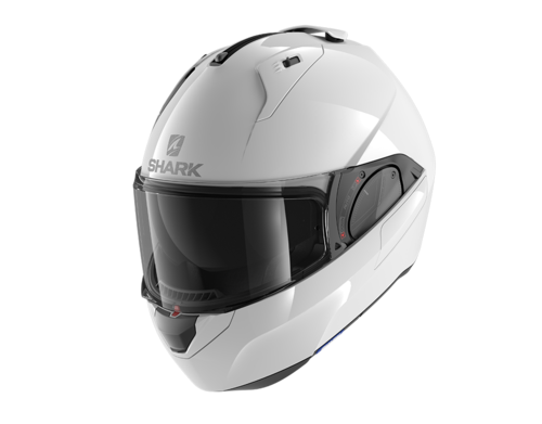 Casco Shark EVO-ES BLANK White Azur