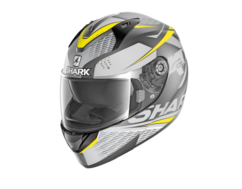 Casco Shark RIDILL 1.2 STRATOM MAT Anthracite Anthracite Yellow