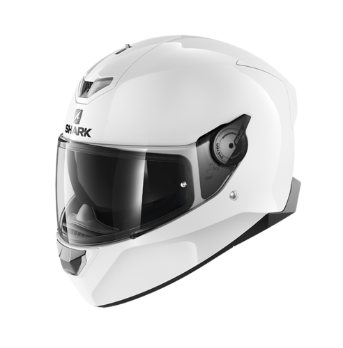 Casco Shark SKWAL 2.2 WHITE LED BLANK White Azur