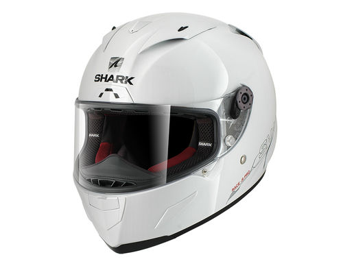Casco Shark RACE-R PRO BLANK White Azur
