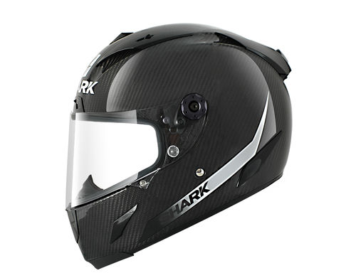 Casco Shark RACE-R PRO CARBON SKIN Carbon White Black