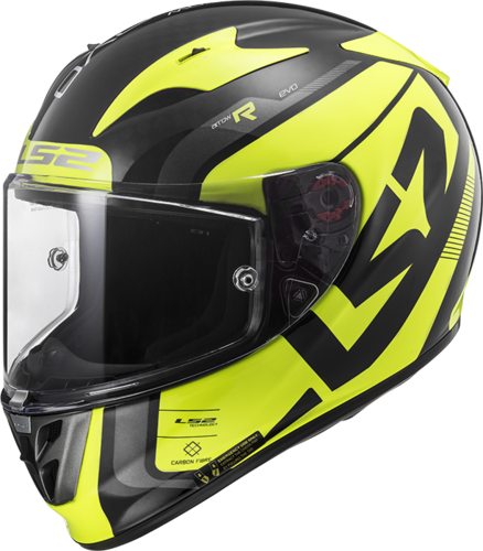 Casco LS2 ARROW C Evo FF323 STING Wineberry H-Vis Yellow
