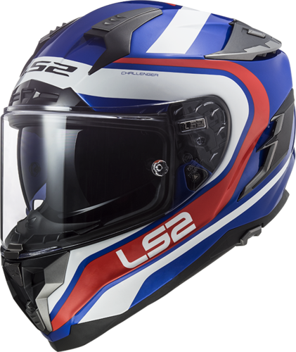 Casco LS2 CHALLENGER HPFC FF327 FUSION Blue Red