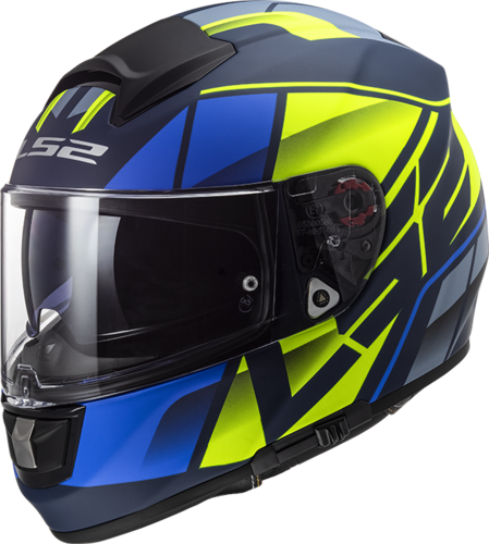 Casco LS2 VECTOR HPFC EVO FF397 KRIPTON Matt Blue H-Vis Yellow