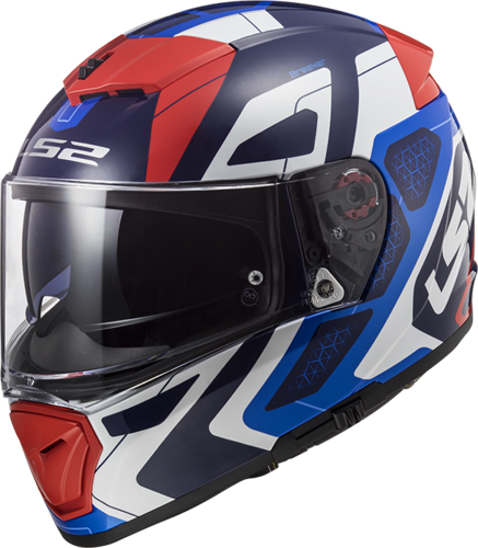 Casco LS2 BREAKER FF390 ANDROID Blue Red