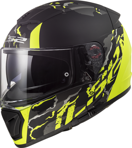 Casco LS2 BREAKER FF390 FELINE Matt Black H-Vis Yellow