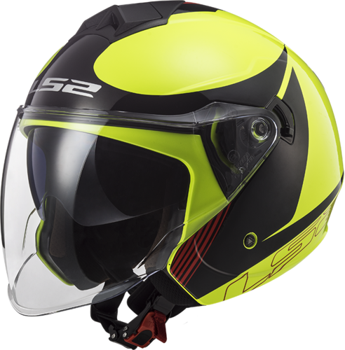 Casco LS2 TWISTER II OF573 PLANE H-Vis Yellow Black Red