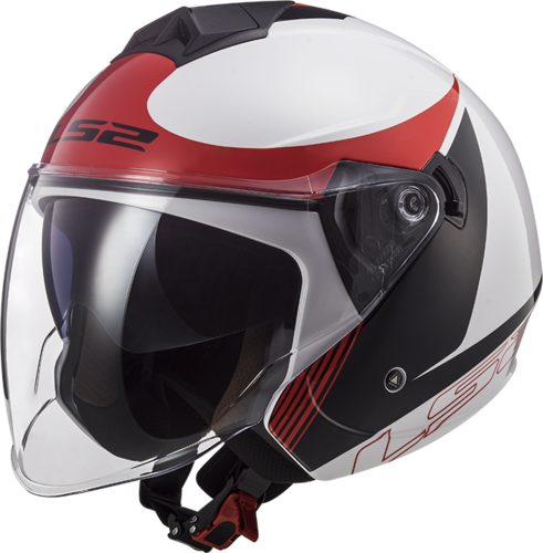 Casco LS2 TWISTER II OF573 PLANE White Black Red