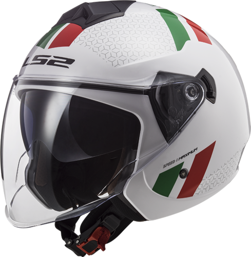 Casco LS2 TWISTER II OF573 COMBO White Green Red