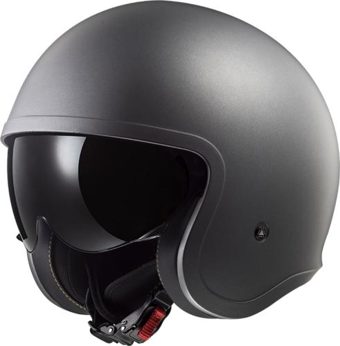 Casco LS2 SPITFIRE OF599 SOLID Matt Tiatanium