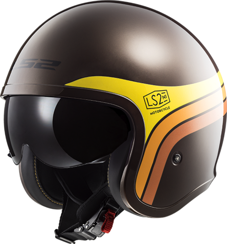 Casco LS2 SPITFIRE OF599 SUNRISE Brown Orange Yellow