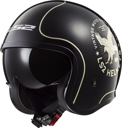 Casco LS2 SPITFIRE OF599 FLIER Black Gold