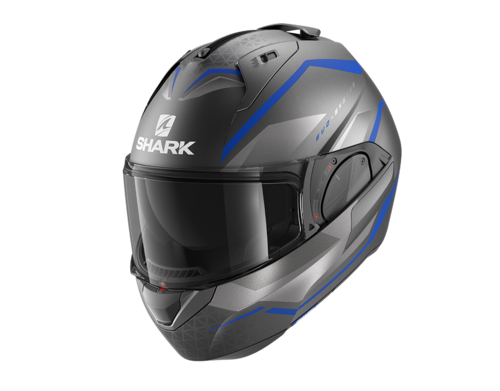 Casco Shark EVO-ES YARI MAT Anthracite Blue Silver