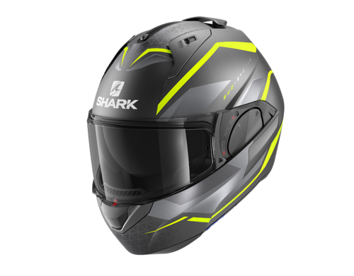 Casco Shark EVO-ES YARI MAT Anthracite Yellow Silver