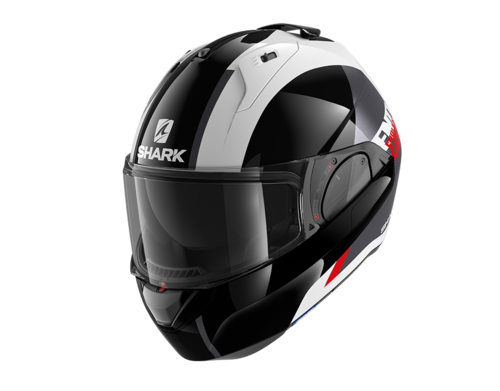 Casco Shark EVO-ES ENDLESS White Black Red