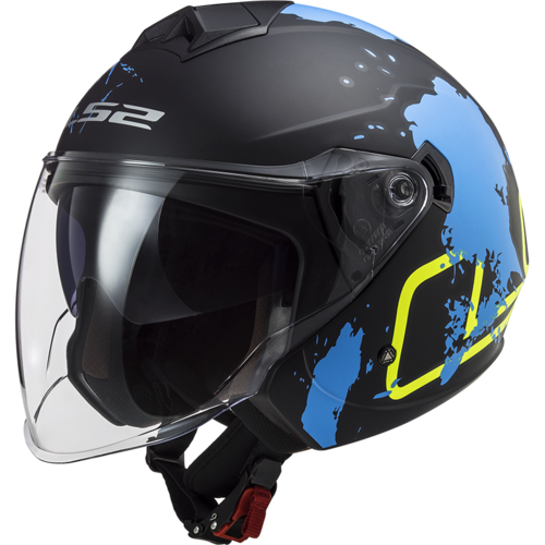 Casco LS2 TWISTER II OF573 XOVER MATT Black Blue