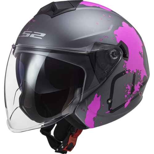 Casco LS2 TWISTER II OF573 XOVER MATT Titanium Purple