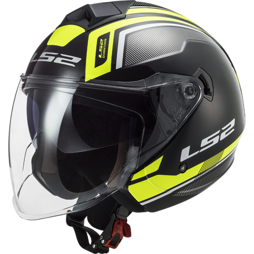 Casco LS2 TWISTER II OF573 FLIX Black H-V Yellow