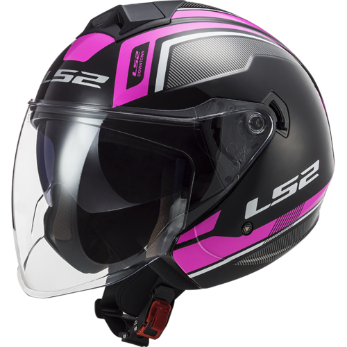 Casco LS2 TWISTER II OF573 FLIX Black Violet